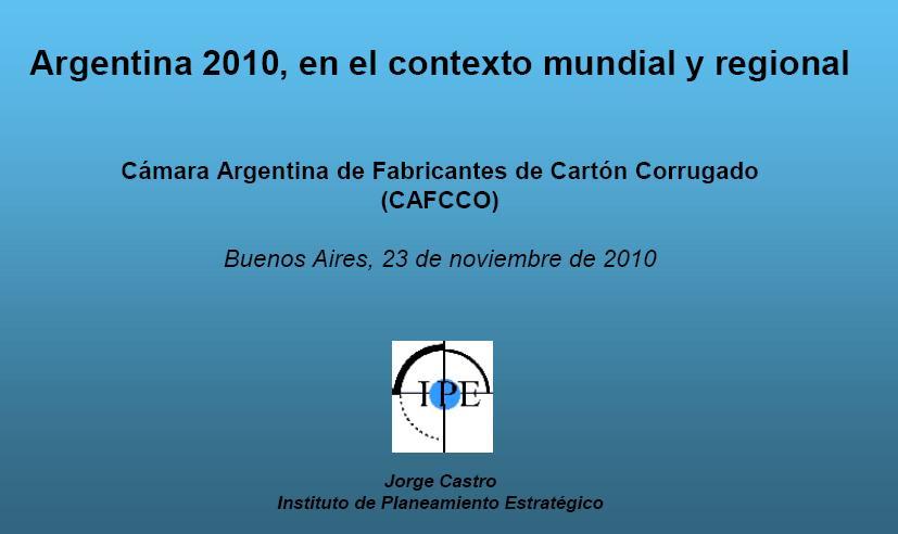 Conferencia Dr. Jorge Castro